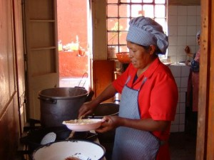 Foto der Küchenchefin